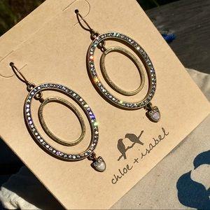 Chloe + Isabel Lunette Oval Drop Earrings